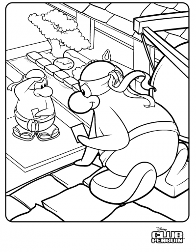 Club Penguin: New Ninja Colouring Page! | Club Penguin ...